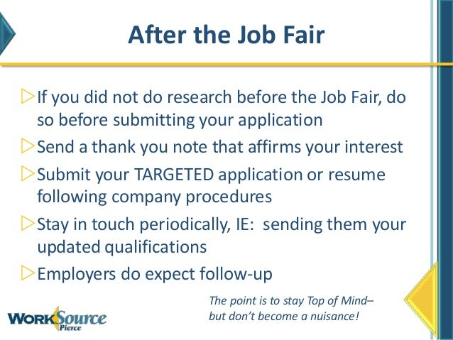 How To Work A Job Fair!