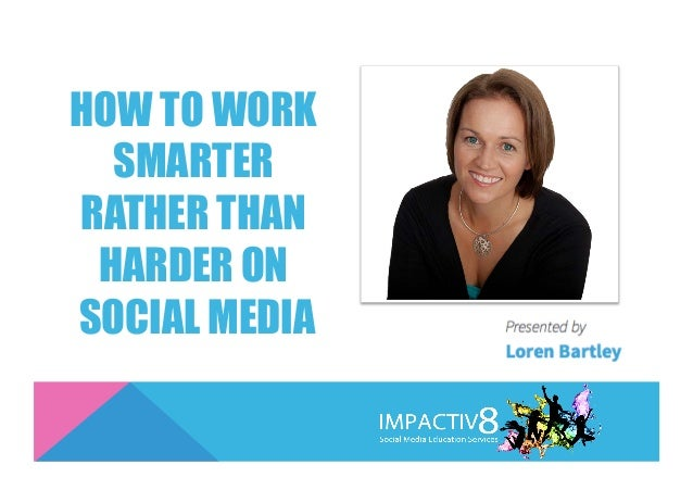 HOW TO WORK SMARTER RATHER THAN HARDER ON SOCIAL MEDIA