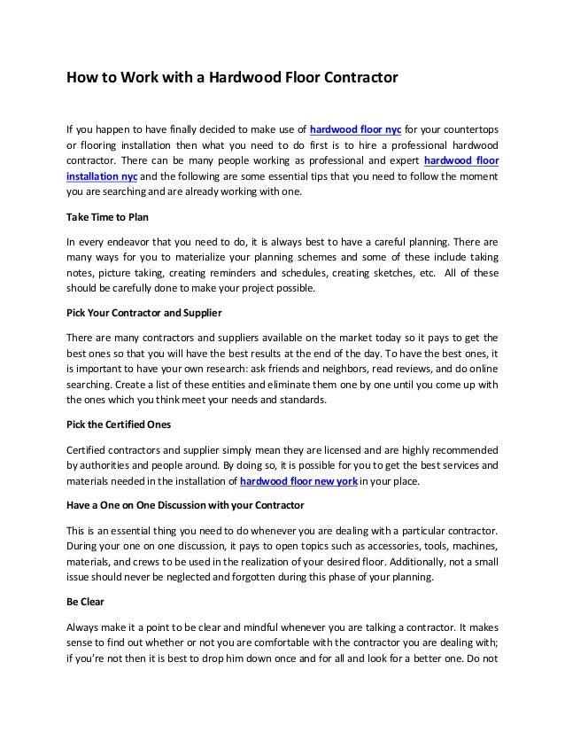 flooring contract