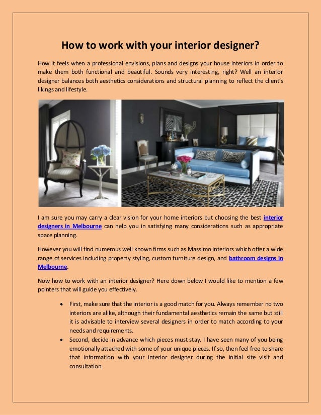 How To Work With Your Interior Designer? How It Feels When A Professional  Envisions, ...