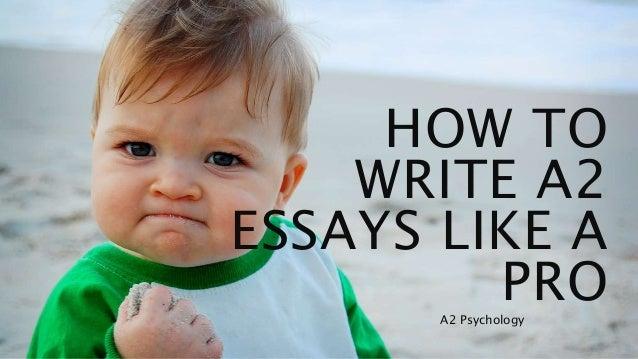 A2 psychology essay