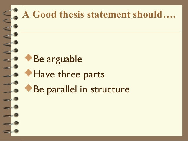 How to Write a Three Point Thesis Statement
