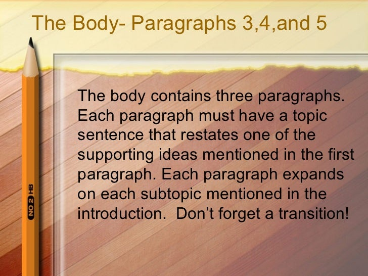 how to write a five paragraph essay conclusion I'll use a 5-paragraph essay structure to create the conclusion of your compare and contrast essay own compare and contrast essay to write.
