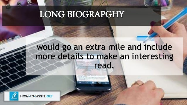 how to write a biography example