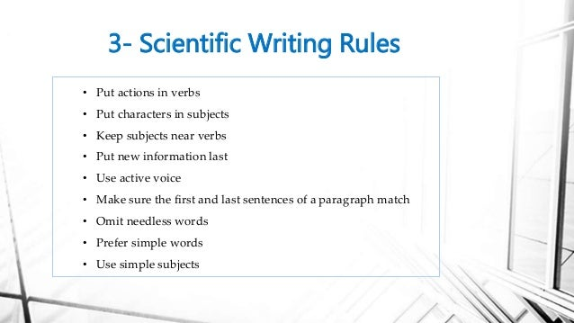 tips for writing scientific research papers How to write a research proposal these recommendations do not guarantee a successful research application they are intended to.