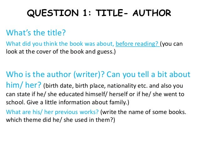 how do you write a book report You could, for example, write about a chapter in the book, the book as a whole (assuming you've read it), or the author's work in general if you know the author personally, talk about this relationship if you don't, you could discuss how the author's work has affected your life or the importance of the work you're introducing.