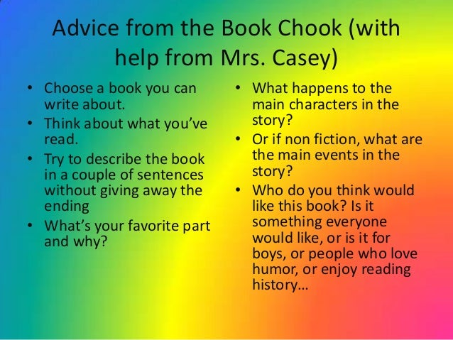 How to write book review for kids