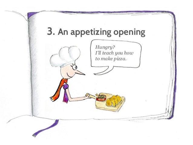 3. An appetizing opening To engage readers, empathize with their problems and promise a solution.