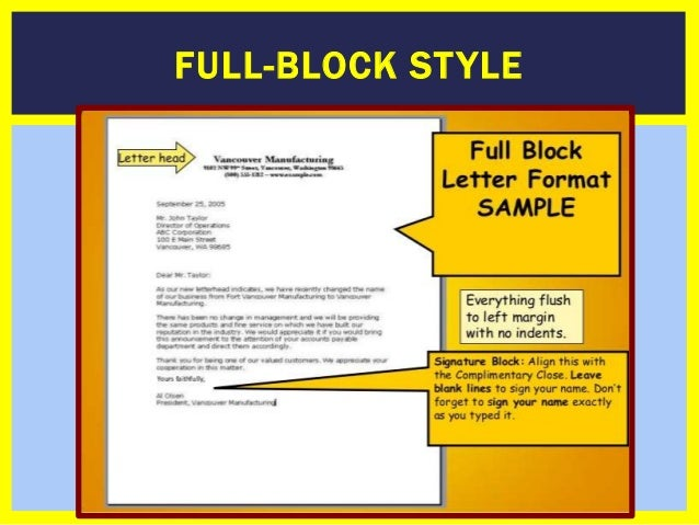 How to write a businessformal letter full block style thecheapjerseys Image collections