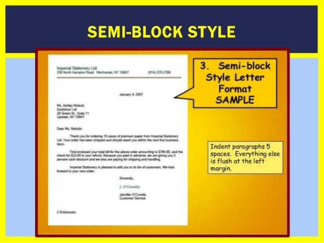 How to write a businessformal letter semi block st yle spiritdancerdesigns Choice Image