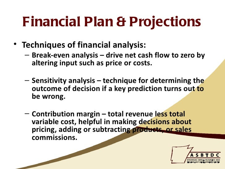 how to write financials for business plan