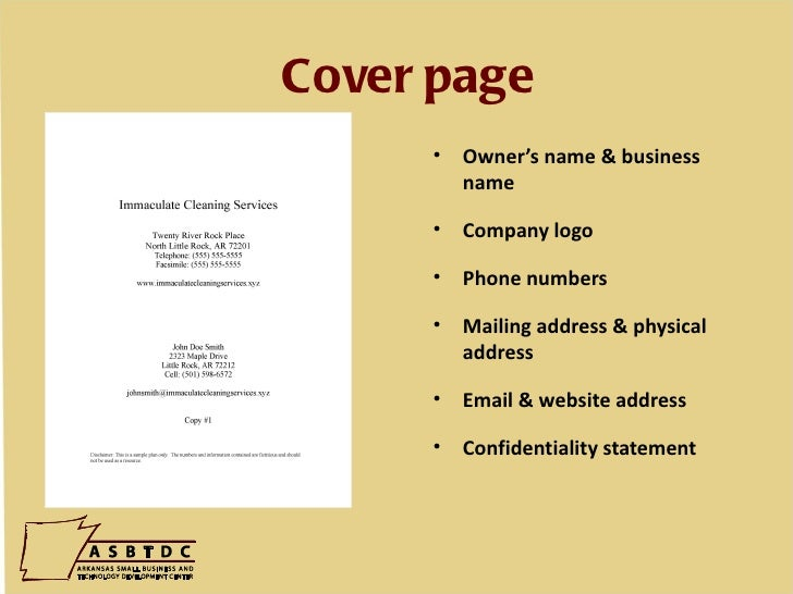 Cover Page U2022 Owneru0027s Name U0026 Business ...  Business Proposal Cover Sheet