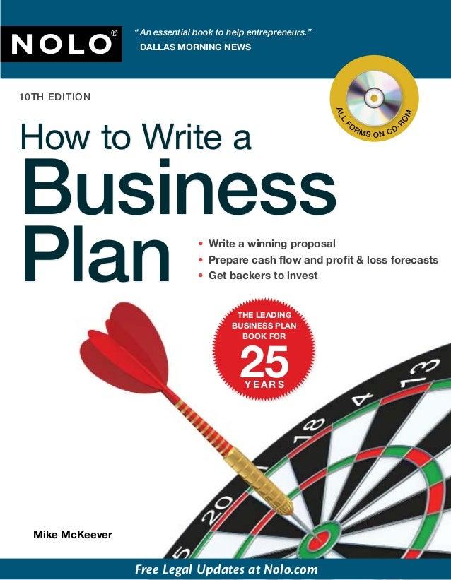 """ An essential book to help entrepreneurs.""NOLO               ®                    DALLAS MORNING NEWS10TH EDITION        ..."