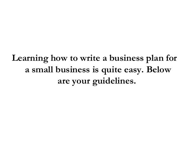 steps on how to develop a business plan