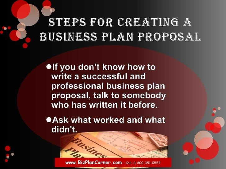 how to write a business plan proposal