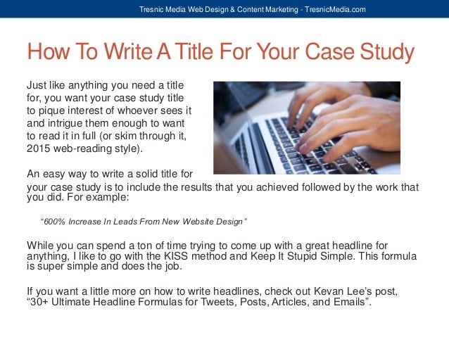 how to write a simple case study