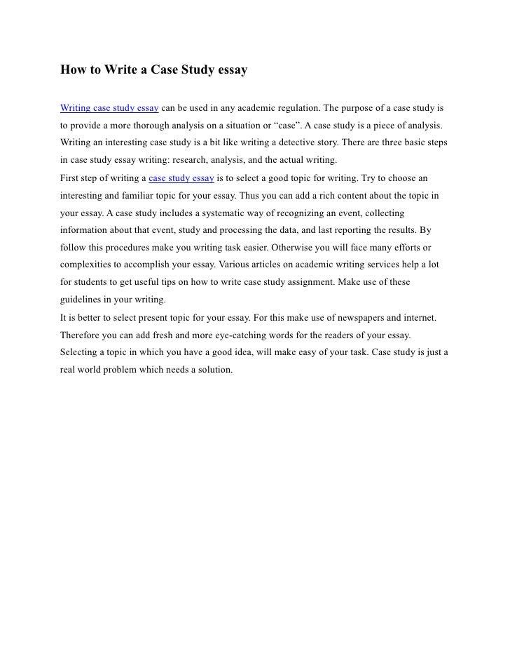 case study essay example nursing