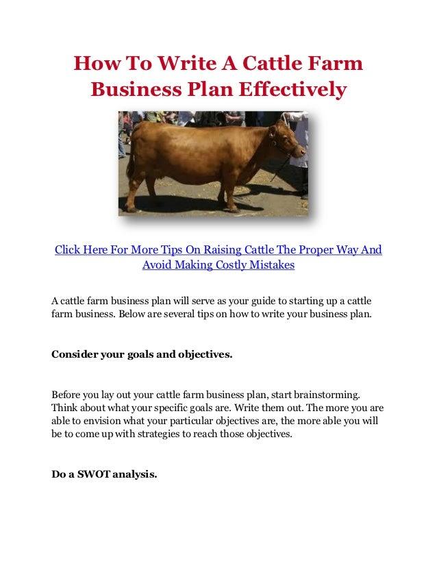 sheep and goat farming business plan pdf
