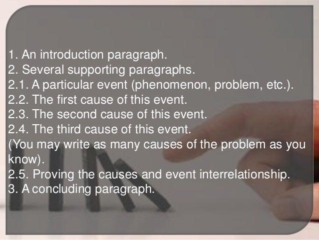 How do you write a cause and effect essay