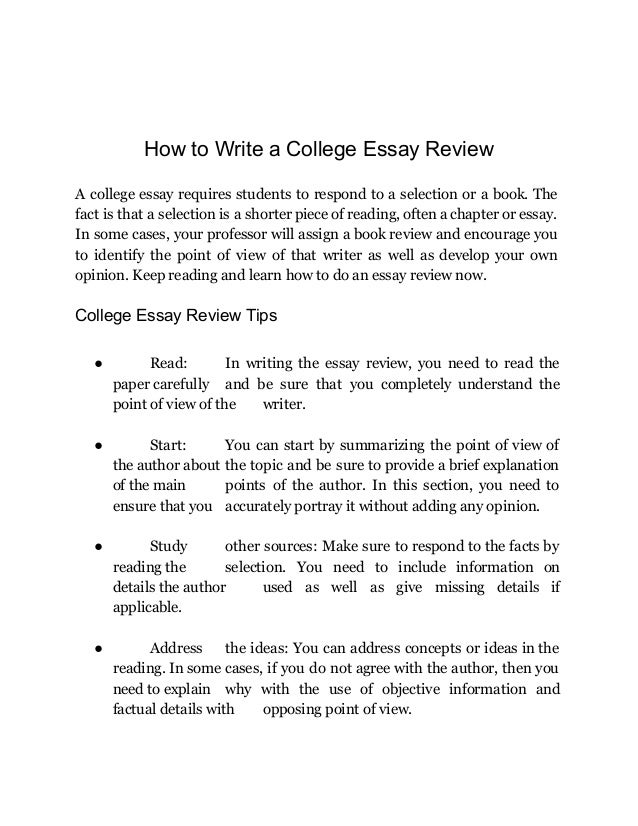 College Essay Review How To Create An Amazing Paper Now