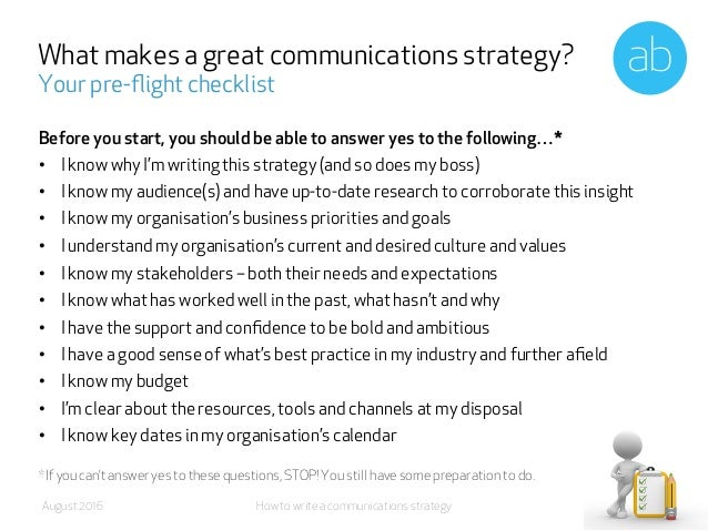 A step by step guide to creating a communications strategy
