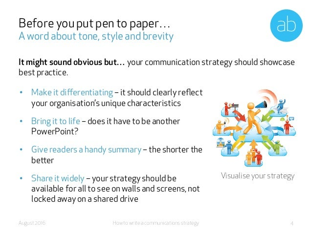 How To Write A Comms Strategy
