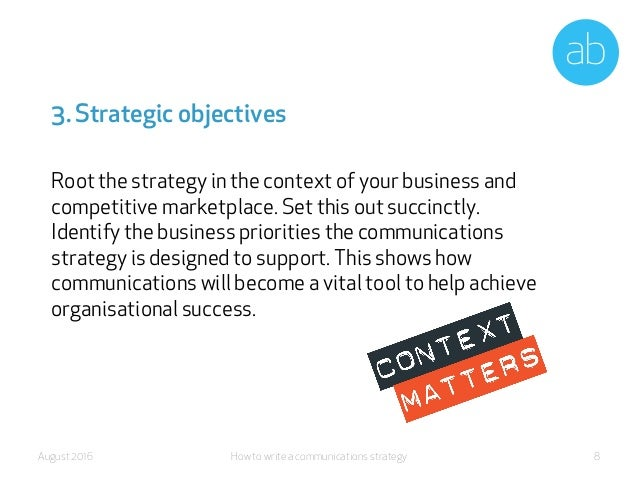 how to write a strategic plan How developed your strategic plan needs to be depends on several factors here's an example of a strategic plan that is most common among businesses today.