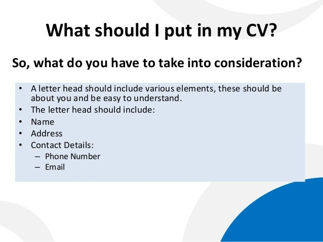 writing cv cover letter