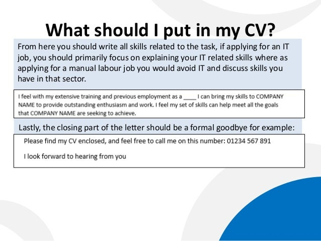 what should i put in - What Should You Write In A Cover Letter