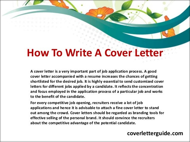 How to write a very good application letter