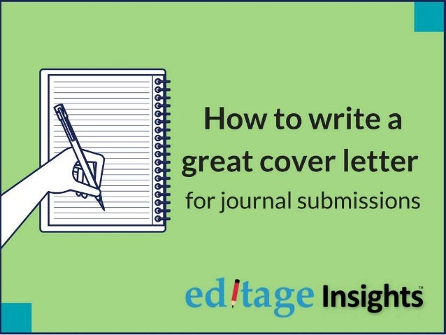 How to write a cover letter for journal submissions