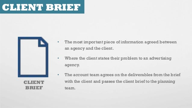 How to brief your ad agency