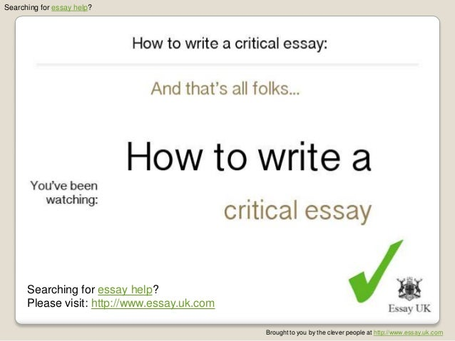 how to write a critical essay jpg cb   essay uk com 6