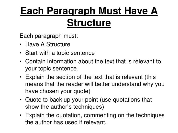 tip for writing paragraph essay
