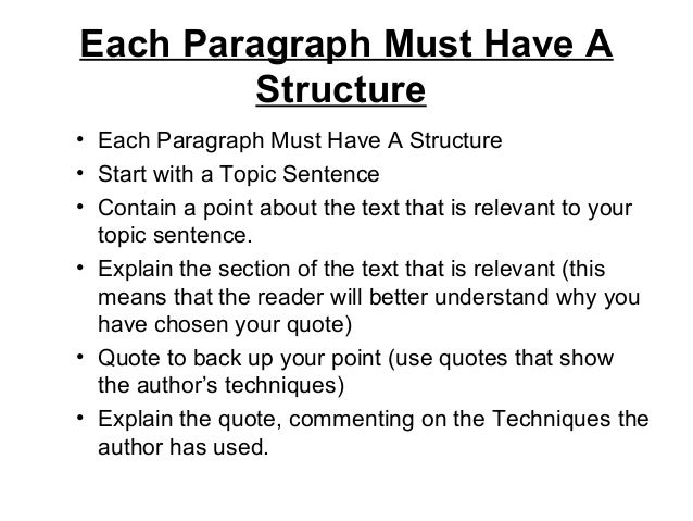 structure of a critical essay