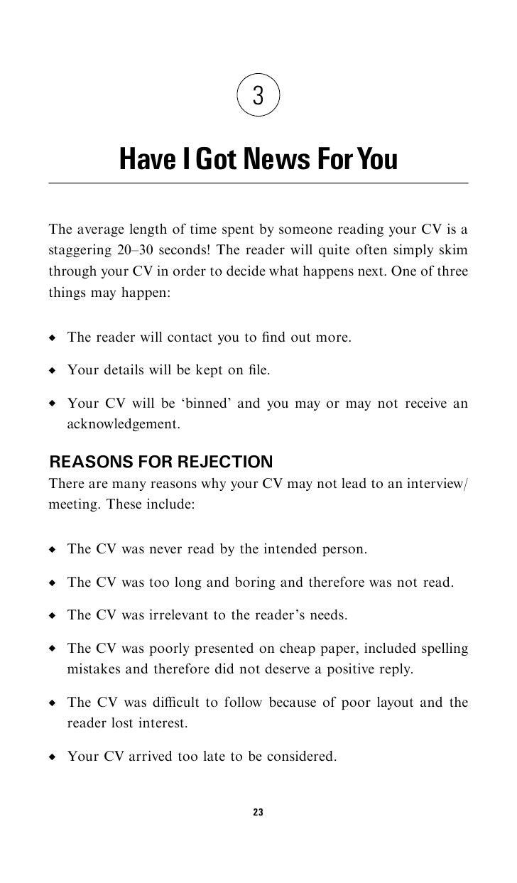 how to write a cv its aim is to 34 h a v e i g o t n e w s f o r y o u 25 give a