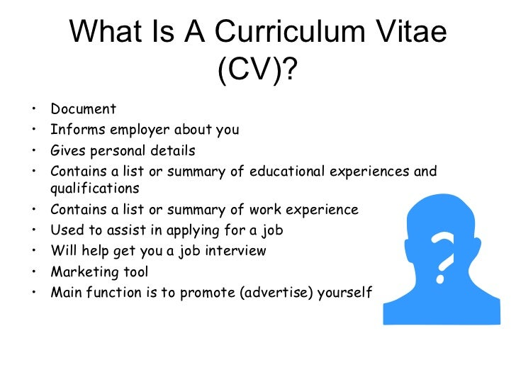 what is a cv document