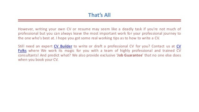 ... Separately; 14. Thatu0027s All However, Writing Your Own CV ...