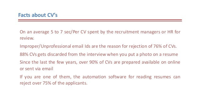 how to write an email with resume