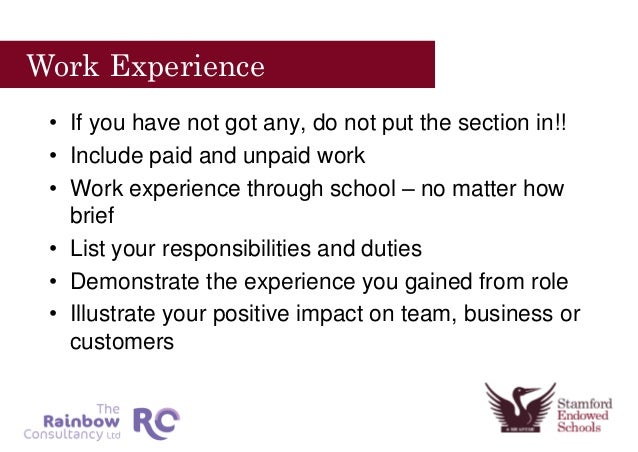how to write a cv without work experience
