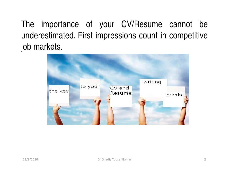 how to write a cv that really works part ii presented by dr shadi