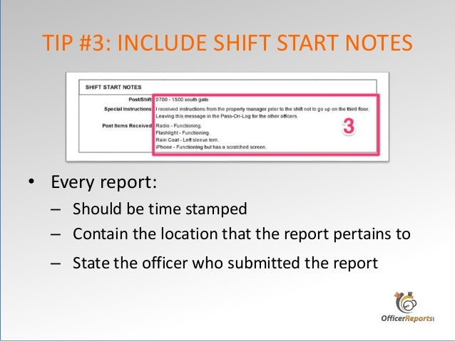 how to write daily report