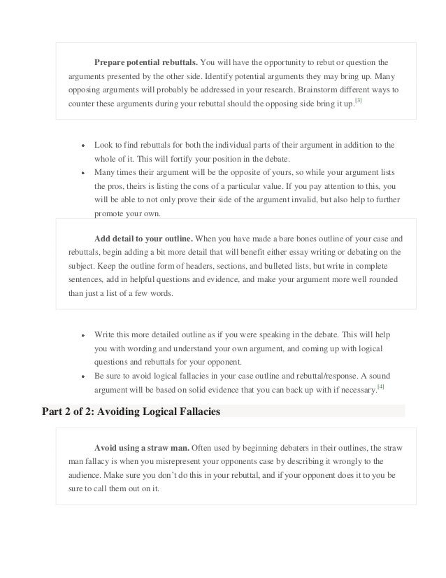 debate outline 1 introduction there is more to a debate speech than the mere delivery of arguments and rebuttals no doubt these two elements form the backbone of a debate speech.