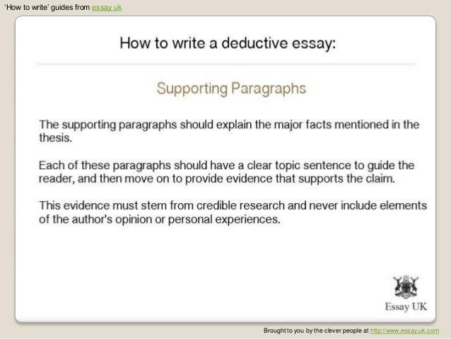 Deductive Essay Example. Student Sample Persuasive Essay ...