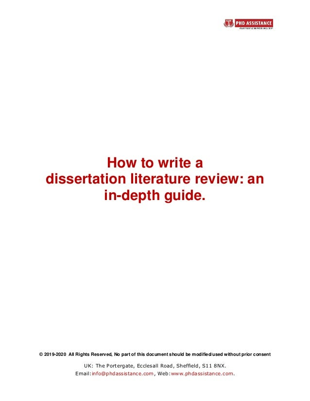 Writing your literature review dissertation