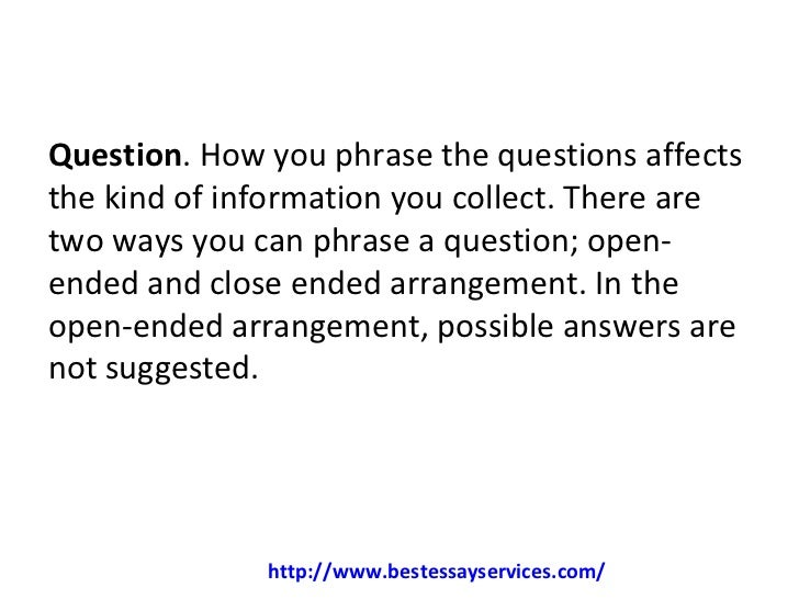 How to write a good dissertation questionnaire