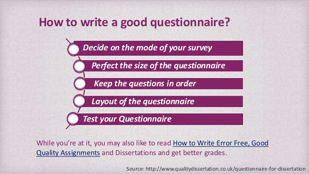 How to write your dissertation question