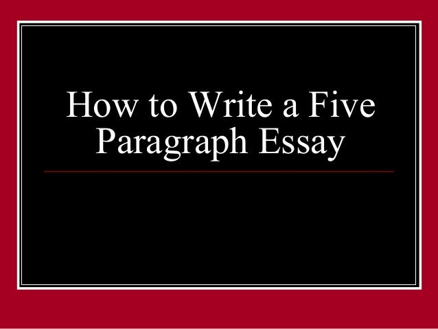 how to write a five paragraph essay from the bookrags website