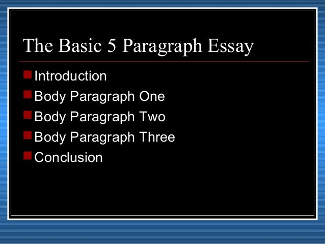 writing the body of an essay lesson plans