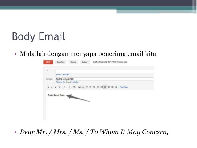 how to make a formal email
